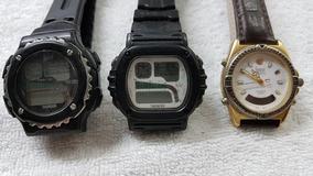 Lote Com 3 Relógios Dumont No Estado