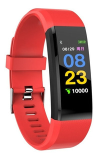 Reloj Inteligente Smartwatch 115 Bluetooth Android Ios Rojo