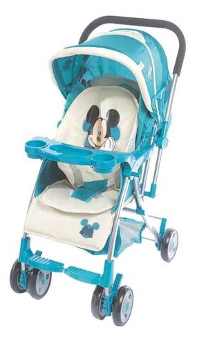 Imagen 1 de 2 de Cochecito de bebé Dencar Coche Cuna 3133 de paseo turquesa con chasis plateado