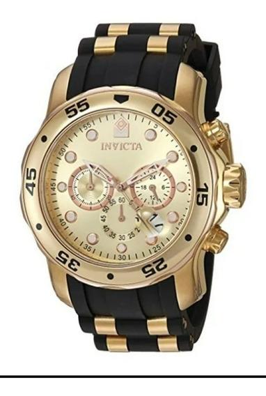 Relógio Invicta Pro Diver 17884 Original Banhado Ouro