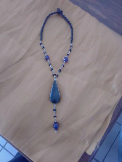 Collar Obsidiana, Arcoiris Con Cuarzo