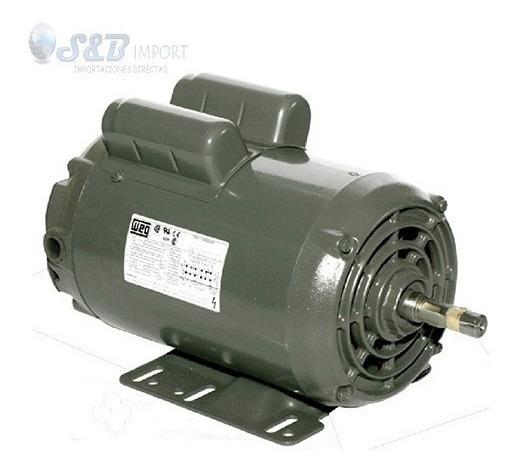Motor Electrico Monofasico Abierto Weg 3hp 1800rpm 110/220v