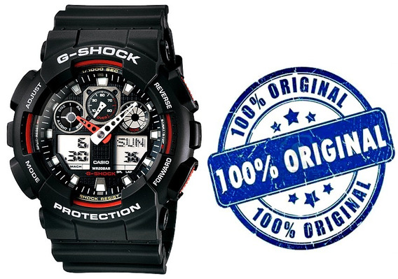 Relógio Casio G-shock Ga-100 1a4 Na Caixa Original Ft Gratis