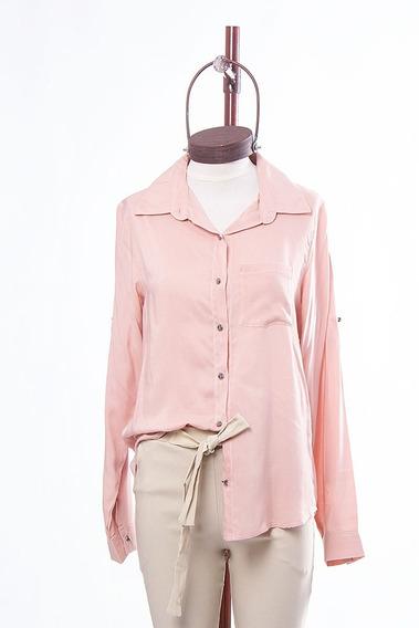 Camisa Mujer Tiffany Manga Larga C/boton Vestir Casual