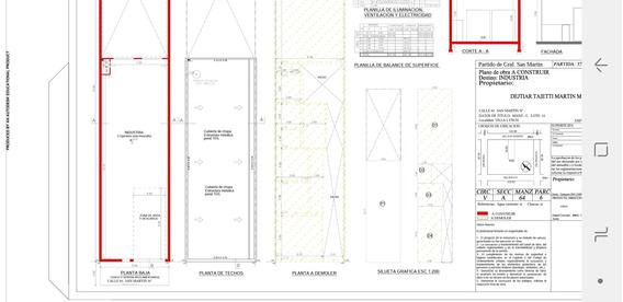 Galpon Zona Industrial 375m2 Villa Lynch