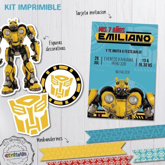 Kit Imprimible Bumblebee Transformers