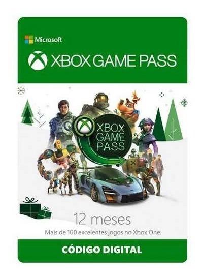 Xbox Game Pass 12 Meses Original - Código De 25 Dígitos