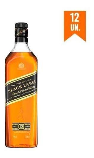 Kit Whisky Johnnie Walker Black Label 1l - 12 Unidades