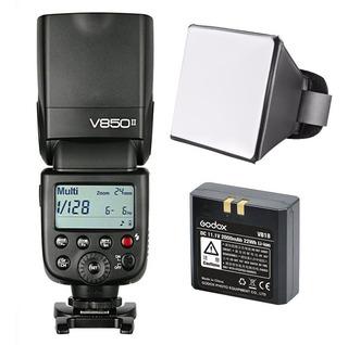 Flash Godox Ving V850ii Canon Nikon Bateria Y Cargador Msi