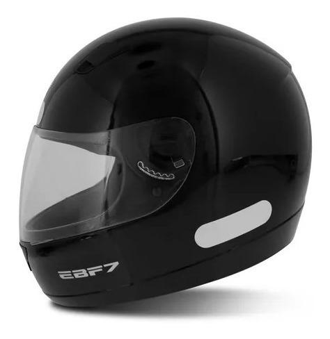 Capacete Ebf 7 Solid Preto Brilhante 58 011883