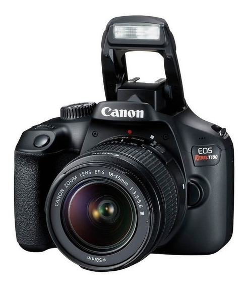 Canon T100 Com Lente 18-55mm F/3.5-5.6 Iii - Lj. Platinum