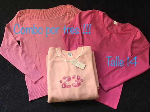 Lote Buzo Niña + Camison + Camiseta Talle 14 Precio Por Todo