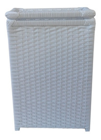 Bolsa Cesto Roupa Lavanderia Branco 40x30x60