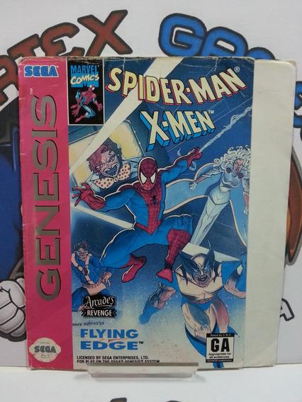 Para Genesis Mega Drive Encarte Capa Jogo Original Spider
