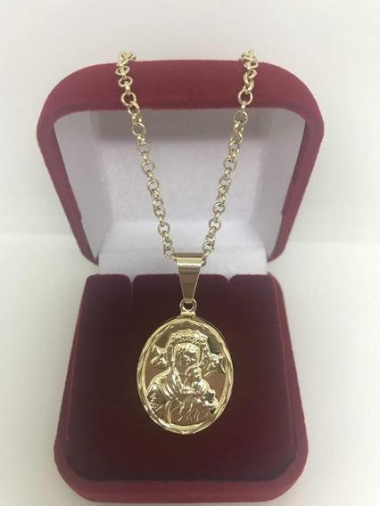 Corrente Com Medalha De Nossa Senhora Do Perpétuo Socorro