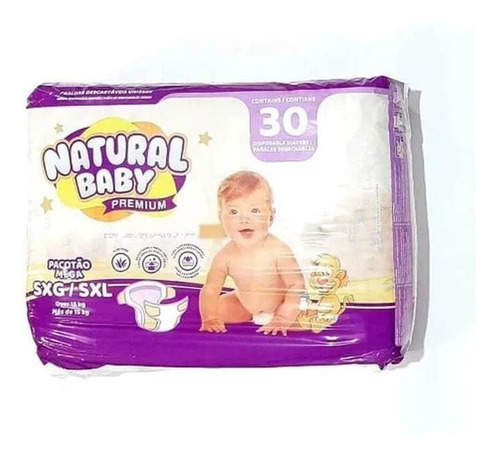 Imagem 1 de 1 de Natural Baby Premium Fralda Mega Sxg C/30