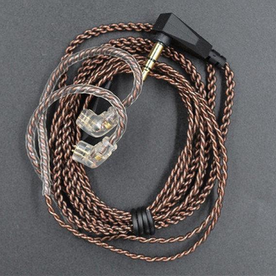 Cabo De Reposição In Ear Trançado Para Fone Kz Zsn