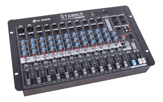 Mesa De Som Lláudio Starmix S1202dbt Com Bluetooth 12 Canais