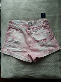 Shorts Jeans Rosa Forever 21