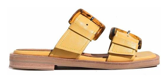 Chinela Sandalia Mujer Cuero Briganti Zapato - Mcch26063