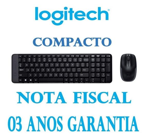 Teclado E Mouse Wireless Logitech Mk220 Compacto Sem Fio