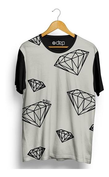 Camiseta Dep Diamantes Bege