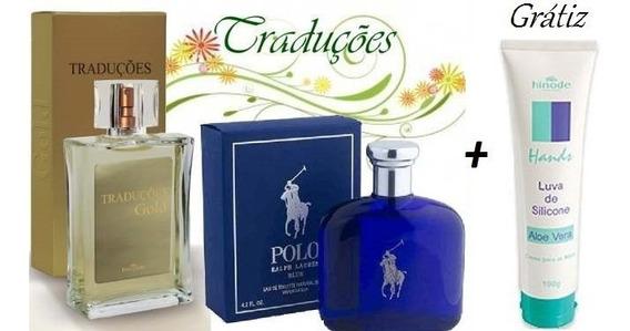 Perfume Polo Blue Hinode Gold 29+gratis Luva De Silicone