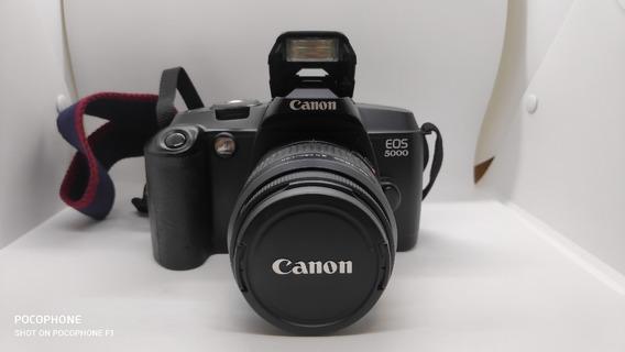 Câmera Canon Analógica Eos 5000 + Objetiva Tokina 100-300mm