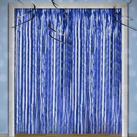 Cortinas Metalizadas Guirnalda Plata Azul Fucsia Dorado