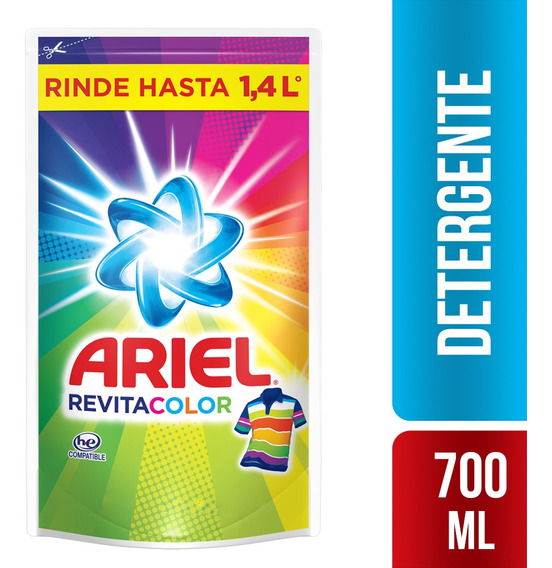 Detergente Liquido Ariel Revitacolor 700ml