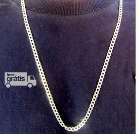 Cordão Corrente Prata Italiana Maciça 925 70 Cm 14g 4 Mm