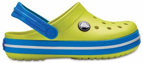 Zapato Crocs Unisex Infantil Crocband Amarillo/azul