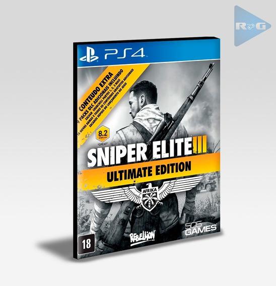 Sniper Elite 3 Ultimate Edition - Ps4 - Envio Agora