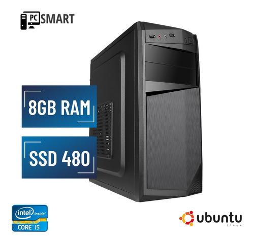 Imagem 1 de 1 de Cpu Computador I5 8gb Ssd 480 Dvd Linux Nova!