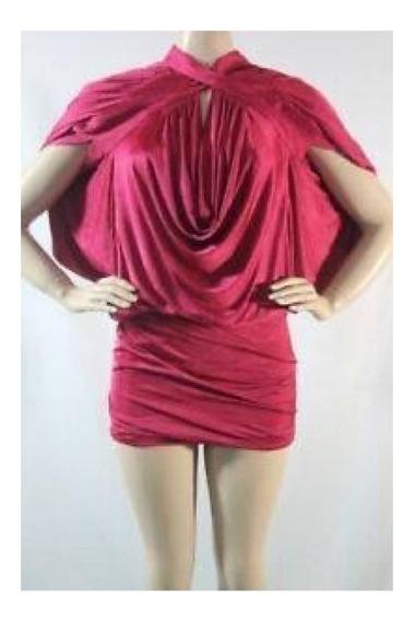 Vestido Bluson Satin Wrap