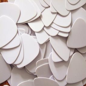 10 Palhetas Branca Personalização Para Guitarra Baixo Violão