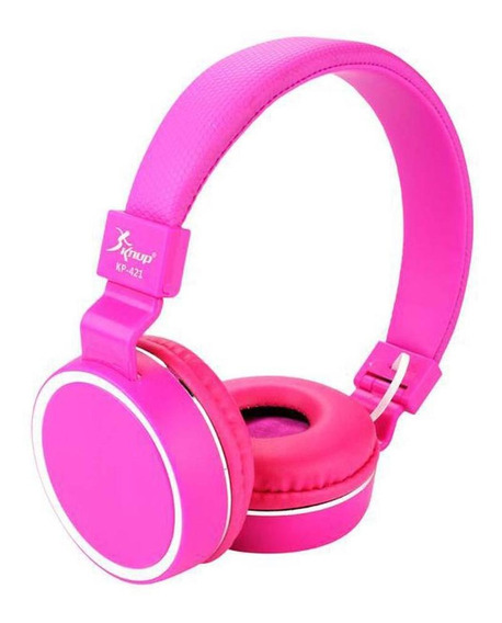 Fone De Ouvido Com Microfone Dobravel P2 Kp 421 Rosa Knup