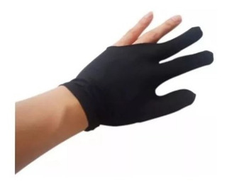 5 Guantes De Billar Negros De Polyester Ajustables Ambas Man