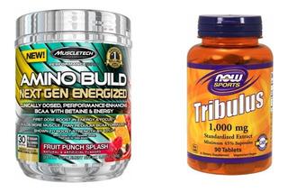 Amino Build Energized Muscletech + Tribulus Now Bcaa Alpha