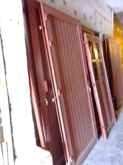 Puerta De Fierro Tubular (nueva) Incluye Marco Y Cerradura.