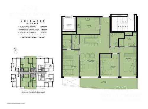 Greenlife, Unidad Al Frente, Dormitorios, 3 Baños, Toilette. Imponente Vista