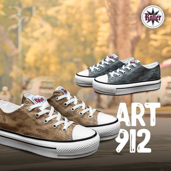 Zapatillas Con Plataforma Talle Del 35/40 Art (912)