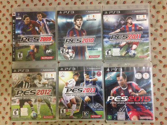 6 Jogos Pes Pro Evolution Soccer Playstation 3 Frete Gratis