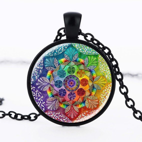 Colar Henna Yoga, Geometria Sagrada - Pingente Mandala