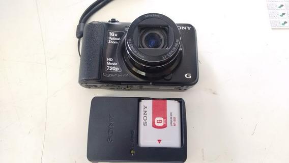 Câmera Digital 720p Cyber Shot Dsc-h90, Carregador E Bateria