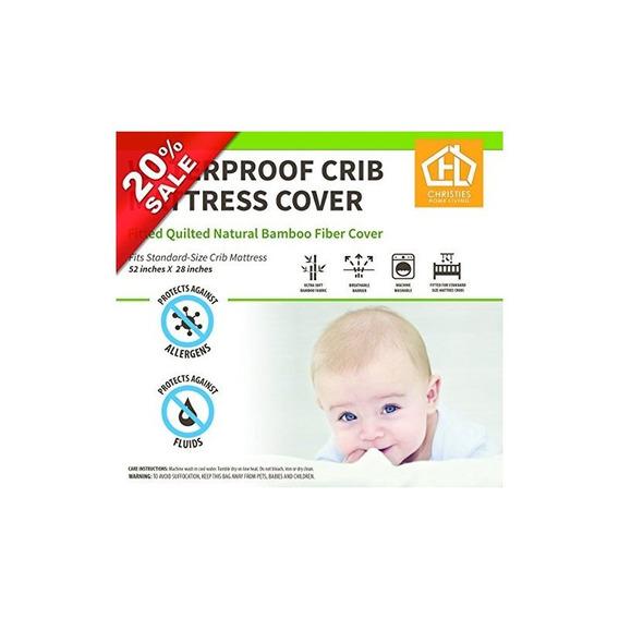 Undyed Bamboo Baby Crib Funda De Colchón 28x52 9 Waterproof