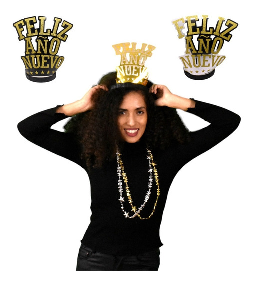 12 Tiaras Diademas Corona Fiesta Feliz Fin De Año Nuevo 2020