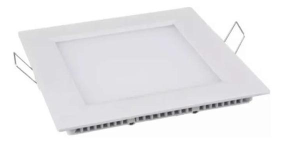 10 Painéis Plafon Luminária Led Quadrado Embutir Slim 25w J