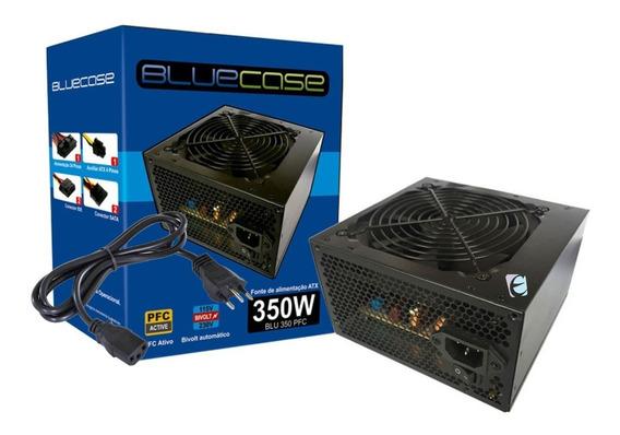 Fonte Bluecase Atx 350w Pfc Ativo Blu350pfc C Cabo De Força