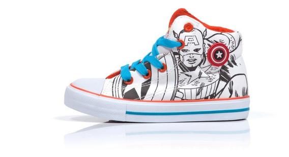 Zapatillas Botitas Atomik Marvel Niños Capitan America